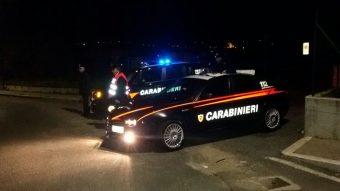 Un posto di blocco dei Carabinieri di Colleferro