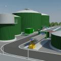 Una elaborazione grafica della Biometano ipotizzata