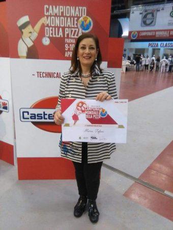 Maria Tofani è quarta al Campionato Mondiale della Pizza di Parma
