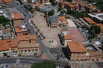 Veduta aerea di Piazza S. Eurosia