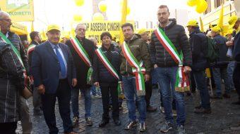 """Contro i cinghiali anche la """"nostra"""" Coldiretti in piazza"""
