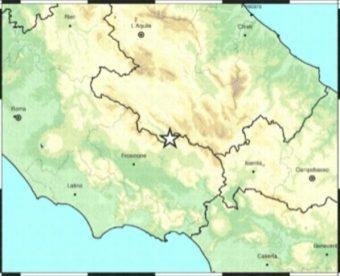 Terremoto 4,4 di Balsorano avvertito chiaramente nella Valle del Sacco e nei Castelli