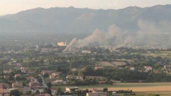 Grosso incendio nel centro di Valmontone