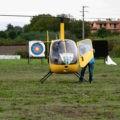 Un elicottero giallo su Artena: ecco chi è atterrato vicino al Palazzetto