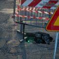 Artena – Via Valle dell'Oste cade a pezzi: strada chiusa per metà