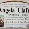 È venuta a mancare Angela Ciafrei