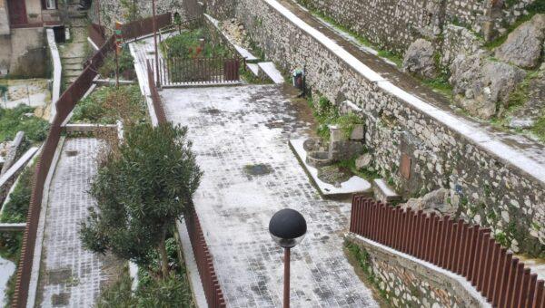 La neve scende sui paesi dei Monti Lepini