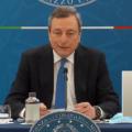 """Draghi: """"Zona gialla dal 26 aprile. All'aperto ristoranti aperti a pranzo e cena"""""""