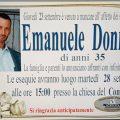 Il funerale di Emanuele Donnini domani ad Artena